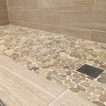 Sliced Java Tan Pebble Tile - Bathroom Granite - Ideas of Bathroom Granite - Sliced Java Tan Pebble Tile Shower Floor Pebble Shower Floor, Small Bathroom Tiles, Bathroom Remodel Master, Shower Remodel, Bathroom Remodel Shower, Pebble Tile Shower Floor, Bathroom Renos, Shower Floor Tile, Modern Small Bathrooms
