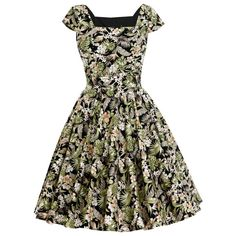 c0fe476b9cd8c Tropical Dress Hawaiian Dress Island Dress Tiki Dress Floral Dress Pin Up  Dress 50s Dress Vintage Style Dress Retro Dress