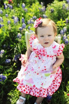 Girls strawberry dress tea party flutter by CocosCuteCreations, $40.00