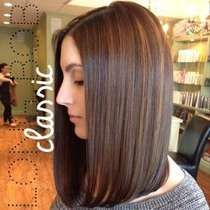 This is the perfect transitional style for him as we go from his short, girlie bob to mid-back length ;)
