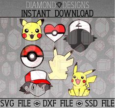 Pokemon - SVG - DXF - SSD Files