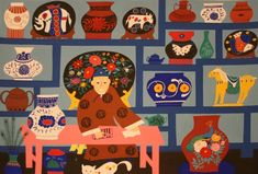 chinese folk art paintings - Google Search