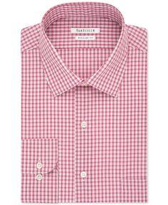 Van Heusen Big and Tall Red Micro Check Dress Shirt