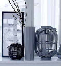 windowsill elegant decorating black white lantern - Home Accessories