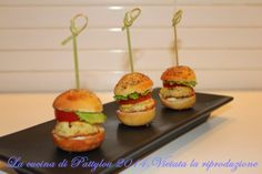 La cucina di Pattylou: Mini hamburger di pollo