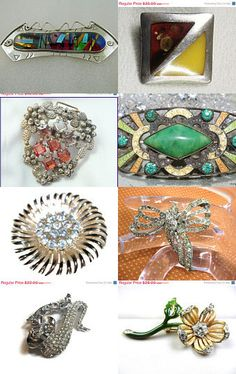 Beautiful Brooches - Thanks for the Treasuries--Pinned with TreasuryPin.com