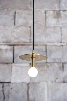brass hanging light fixture.