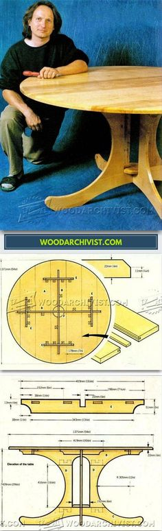 Circular Table Plans - Furniture Plans and Projects | WoodArchivist.com