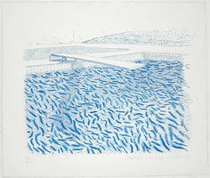 David Hockney  Water Made of Lines and Crayon (lithograph, 1978)