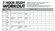 Study and Workout to Study More Effectively Are you driving yourself mad with studying with no time for breaks? When I was in college, my super smart and very well-respected anatomy professor advised us to take breaks when we studied. She showed evidence that students who studied for a few straight hours versus students who studied just one concentrated session with a break in between studying retained the same amount of information: An hour of study is defined as studying for 45 min