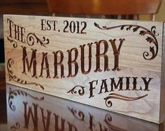 Rustic Family Established Sign by BenchMarkCustomSigns on Etsy