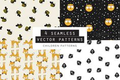 Explore more than vector patterns featuring simple lines, geometric shapes, brush strokes, hand-drawn motifs, and watercolor effects. Vector Pattern, Photoshop, Graphic Design, Children, Illustration, Graphics, Patterns, Young Children, Block Prints