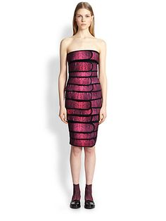 Bricklayers dress?  Strapless Cocktail Bandeau Neck Bodycon Snake Print Polyester Natural Waistline Dress