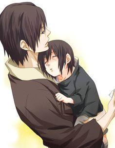 Itachi and Fugaku, Naruto Aww, Itachi was so cute! =^_^=