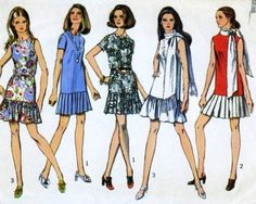 1970s Misses Dress Vintage Sewing Pattern