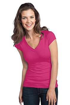 District® - Juniors Cotton/Spandex Banded V-Neck Tee - Dark Fuchsia - X-Small District http://www.amazon.com/dp/B00X3W9YXG/ref=cm_sw_r_pi_dp_Xx2Pvb0QG0YPY