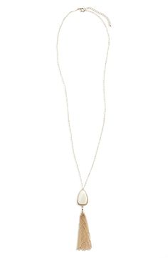 BP. Mother of Pearl Pendant Necklace available at #Nordstrom