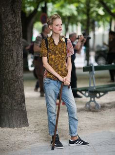 Model Street Style: Hanne Gaby Odiele's Tomboyish Look | The Front Row View