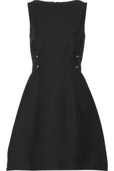 Lanvin Wool-blend grosgrain dress | NET-A-PORTER