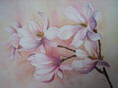 """Kerstin Birk, """"Magnolien"""" (21) Mit einem Klick auf 'Als Kunstkarte versenden' versenden Sie kostenlos dieses Werk Ihren Freunden und Bekannten."""