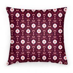 Retro Flower Pattern Pillow #pillow #pattern #retro #flowers #cool #trendy #decor #design