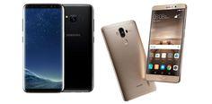 Cool Samsung's Galaxy 2017: Samsung Galaxy S8 Plus vs Huawei Mate 9 : quelle phablette Android choisir ? - w... News Tech