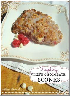 {Northern Cottage} -  yummy {Raspberry White Chocolate Scone Recipe} - mmm!