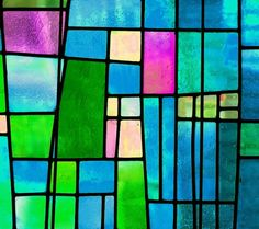 Stained glass window design. Abstract Geometric