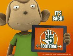 Subway Canada 5 dollars Footlong promotion is back