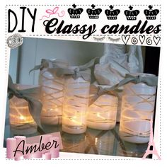 """""""DIY Classy Candles"""" by the-amazing-tip-chickas on Polyvore"""