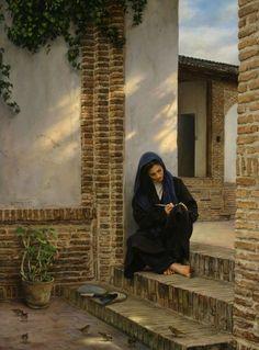 Memory of that house by Iman Maleki 1976   Iranian Realist painter Le peintre iranien, Iman MALEKI, génie du réalisme, a gagné le prix William Bouguereau et le 'Chairman´s Choise lors du II Concours International du Art Renewal Center