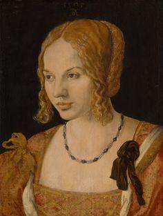 Daily artworks: Albrecht Dürer (1471 - 1528) Portrait of a Young Venetian Woman (1505)
