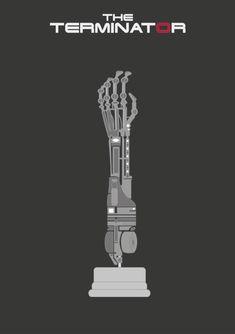 The Terminator (1984) ~ Minimal Movie Poster by David Peacock #amusementphile