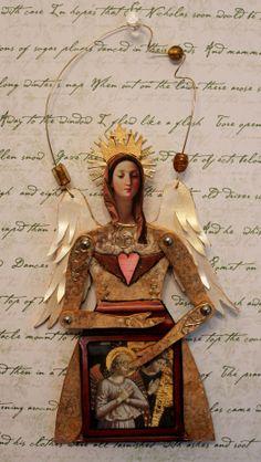 Shrine Angel created for Retro Café Art Swap.