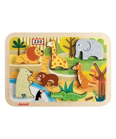 Another great find on #zulily! Zoo Chunky Puzzle #zulilyfinds