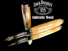 Jack Daniels Fountain Pen Reclaimed Oak Barrel by castleinkpens, $49.00 - FashionFilmsNYC.com