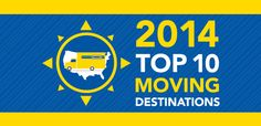 Where is America moving? Penske Truck Rental Releases its 2014 Top Moving Destinations List! #moving #penske #trucks #PenskeTMD