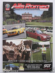 Alfa Romeo Owners Club Magazine Vol 46 Number 4 August 2012 for AUD12.95 #Books #Magazines #Magazines #Magazine  Like the Alfa Romeo Owners Club Magazine Vol 46 Number 4 August 2012? Get it at AUD12.95!