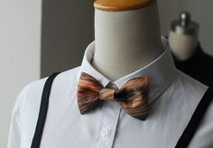 MERLIN Fashion Hot Bowtie,Basic Style with Inventive design, Brown wood grain printing, Bow Tie or Hair Bow, Customize on Etsy, $20.99