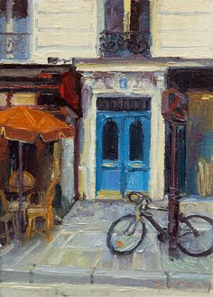Image of 9. Blue Doors and a Bicycle | | Paul Ferney Paintings