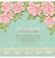Vintage background with roses vector 2028548 - by sticknote on VectorStock®