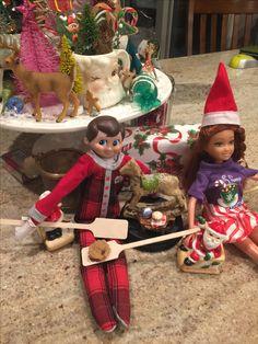 Yule Log, Elf On The Shelf, Holiday Decor, Home Decor, Decoration Home, Room Decor, Christmas Log, Home Interior Design, Home Decoration
