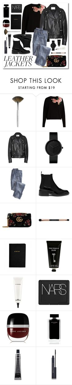 """""""Untitled #28"""" by marie-r-nisted ❤ liked on Polyvore featuring Trish McEvoy, Dolce&Gabbana, Acne Studios, Wrap, Mulberry, Gucci, Katie Loxton, TokyoMilk, MAC Cosmetics and NARS Cosmetics"""