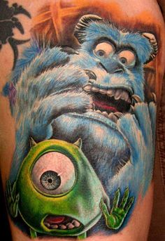 Personally I could never see getting this, but that's some seriously good work - Monsters Inc. Tattoo