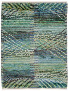 """Märta Måås-Fjetterström, """"Marina grön"""" Rya rug,   1956."""