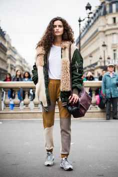 Chiara Scelsi is seen before the Balmain fashion show during Paris Fashion week Womenswear SS18 on September 28 2017 in Paris France