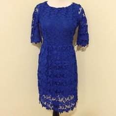 ⚡️ BF Sale⚡️Host Pick Blue Lace Dress From Lulu's New with tags.  Lined.  Invisible zipper.  Measurements available upon request.     👍🏻👍🏻 Bundle and SAVE! 👍🏻👍🏻 🛍 10% off 2 or more items 🛍 🙅🏻🙅🏻 NO TRADES 🙅🏻🙅🏻 🚫🚫NO MODELING🚫🚫 Oh my love Dresses