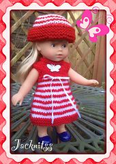 This is a FREE pattern for a cute little striped dress which is knit from the top down, 1 button back fastening and ribbon tie at underarm. Together with a sweet little turn back brim hat.
