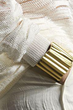 my new obsesion...blanco y dorado