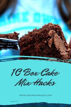 10 Box Cake Mix Hacks (How to Improve a Boxed Cake Mix - Cardboard Box , 10 Box Cake Mix Hacks (How to Improve a Boxed Cake Mix While we all aspire to be professional bakers who bake everything from scratch, sometimes it's . Chocolate Box Cake, Chocolate Cake Mix Recipes, Chocolate Art, Recipes Using Cake Mix, Box Cake Recipes, Cupcake Recipes, Dessert Recipes, Cake Mix Brownies, Cake Mix Cookies